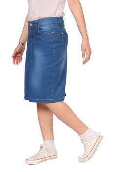 afbb03e2c0 102 best Denim Skirts images in 2019 | Midi skirts, Denim Skirt ...