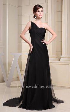 #Valentines #AdoreWe #Dorris Wedding - #Dorris Wedding Simple Crystal Long Detailing One-Shoulder Brush Train and Dress With Beading - AdoreWe.com