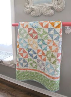 Bee In My Bonnet ~ Salt Water Taffy Quilt Love the way this is displayed.