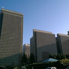 Lined up in a row with 2 3 4 Embarcadero Center #SanFranciscoSkyline 5.2015