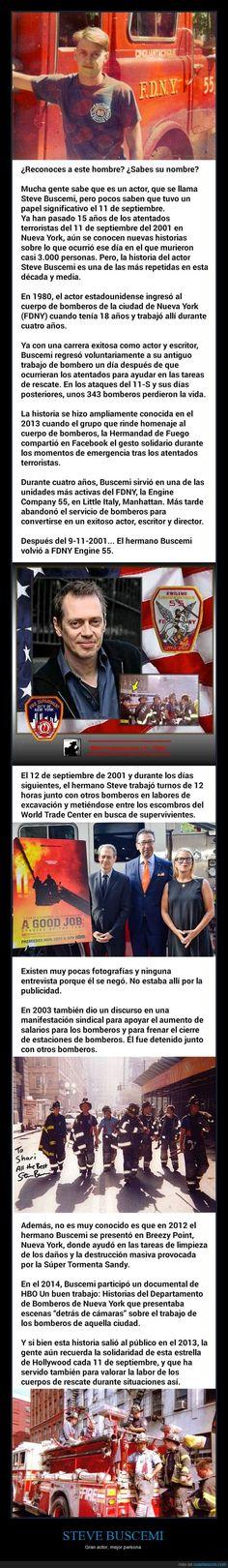 Muy poca gente conoce el acto altruista del actor Steve Buscemi tras los atentados del 11-S - Gran actor, mejor persona   Gracias a http://www.cuantarazon.com/   Si quieres leer la noticia completa visita: http://www.estoy-aburrido.com/muy-poca-gente-conoce-el-acto-altruista-del-actor-steve-buscemi-tras-los-atentados-del-11-s-gran-actor-mejor-persona/