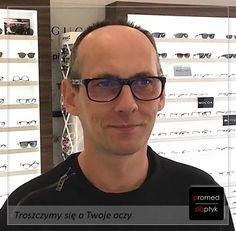 Pan Roman jest kolejnym szczęśliwym posiadaczem okularów progresywnych. Pozdrawiamy i polecamy się na przyszłość 😎 #optyk #optometrysta #okulary #okularyprogresywne #widzenie