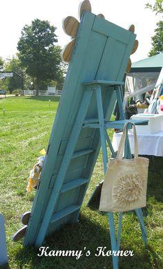 Craft Fair Display Ideas | ... Korner: A Rickety Ladder, A Neighbor Grandpa, and a Craft Show Display