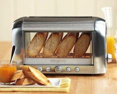 I know that a toaster oven would probably do the same thing...but this just seems so much cooler!