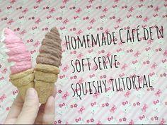 Homemade Cafe de N Soft Serve Squishy Tutorial