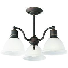 Progress Lighting - Madison Collection Antique Bronze 3-light Semi-flushmount - 785247130665 - Home Depot Canada