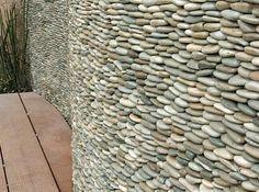 stone pebble wall