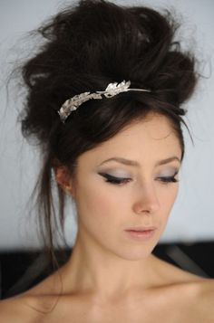 Headband, makeup, everything.