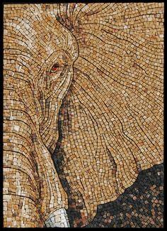 Elephant Eye- Mosaic Stone -Sandra Groeneveld