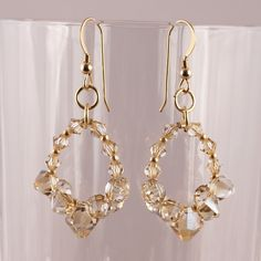 Fun shapes come together in these earrings to make great style.