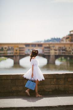 white full skirt dress