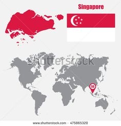 The 45 best singapore images on pinterest singapore indonesia and singapore map on a world map with flag and map pointer gumiabroncs Gallery