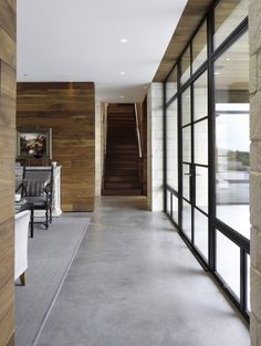 Large windows. Polished concrete floors.