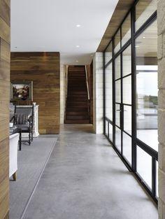 Large windows. Polished concrete floors.
