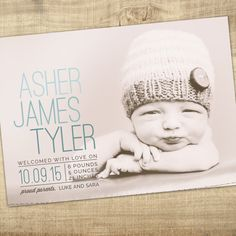 birth announcement Baby boy announcement Baby girl by westwillow