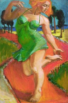 """""""Figurative painting of woman, contemporary figure painter, female figuration, The Thorn by Marie Fox"""" - Original Fine Art for Sale - � Marie Fox"""