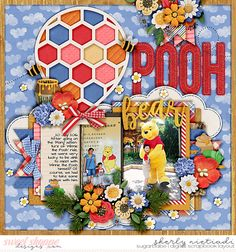 Trio pack 35 - honey bear template by Cindy Schneider Believe in Magic: Honey Bear collection by Amber Shaw & Studio Flergs