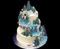Kayak Waterfall Cake waterfall cakes teawithlemon | All about Real Weddings - Wedding Blog