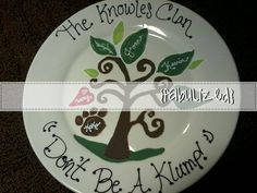 Great gift for any holiday or special occasion. Family tree plate. $10