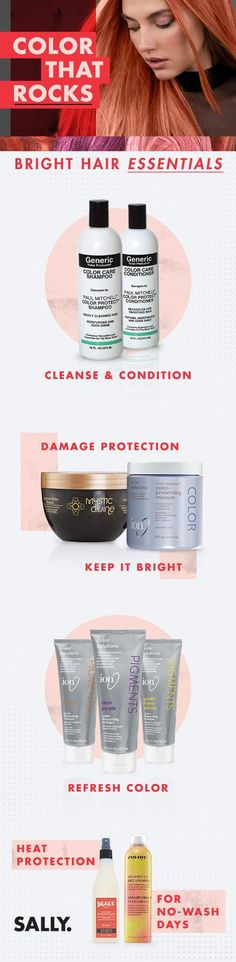 Shop Sally Beauty for salon quality hair color at home. Explore our selection of professional hair colors and dyes from your favorite brands. Professional Hair Color, Professional Hairstyles, Permanent Hair Dye, Semi Permanent, Bright Hair Colors, Hair Essentials, Sally Beauty, Shampoos, Moisturizers