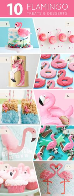 10 Flamingo Treats - cakes, cupcakes, cookies and pops for flamingo lovers | on TheCakeBlog.com