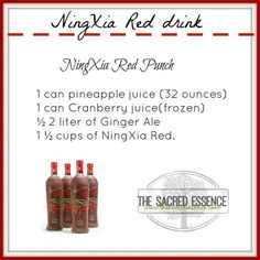 Ningxia Red Punch (punch drink products) https://www.facebook.com/groups/NaturalLivingEssentials101/