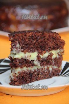 """Crazy Cake """"Crazy Cake"""" (recipe with photos) Crazy Cakes, Crazy Cake Recipes, Sweet Recipes, Food Cakes, Cupcake Cakes, Baking Cakes, Baking Recipes, Dessert Recipes, Russian Cakes"""