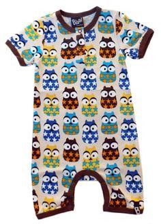 Musjes.com BLAA! kinderkleding - Mr. Owl summersuit