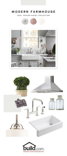 65 Ideas Farmhouse Sink Kohler Kitchen Faucets For 2019 Kitchen Redo, Kitchen Remodel, Kitchen Design, Kitchen Ideas, Kitchen Mixer, Modern Farmhouse Kitchens, Home Kitchens, Farmhouse Style, Farmhouse Plans