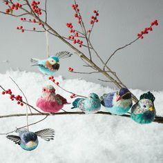 Sisal Bird Ornaments   west elm
