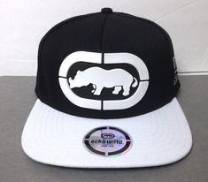 f9b494cb497 New ECKO UNLTD SNAPBACK HAT Black White City Brim Art Rhino Logo Men Women