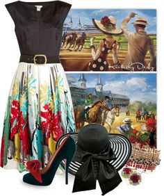 """Derby Daze"" by katc on Polyvore"