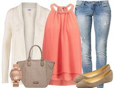 Frühlingslook mit #Jeans und #Cardigan ♥ stylefruits Inspiration ♥ #ootd #fruehlingslook #summertime