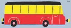 Here is ONE bus! From Counting. Publishing date: March First Bus, Red Bus, Kids Lighting, Love Reading, Counting, March, Learning, Illustration, Books