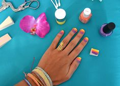DIY: Sunset Painted Nails | Pura Vida Bracelets