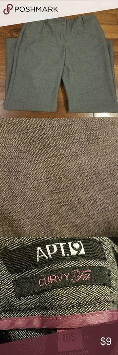🍒Apt 9 curvy fit pants Dress pants. Size 10 short. Petite. Beautiful gray. Apt. 9 Pants