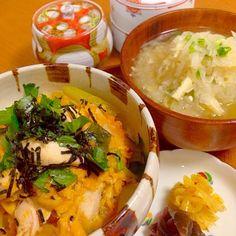 おはようございます  今日も雨☔️ でも、気持ちはハレに✨☀️✨ 朝からしっかり食べて 行って来ま〜す - 133件のもぐもぐ - 親子丼で朝ご飯 by Demisuke