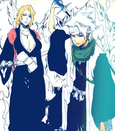 Looook who's hereeee. #toshiro #rangiku #bleach