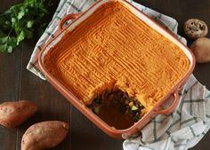 Empadão de lentilhas e batata doce