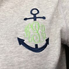 cute monogram sweatshirt @Alex Jones Jones Jones Jones Jones Morris we might need these for Florida!!