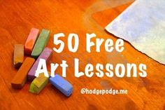 50 Free Art Lessons Using Chalk Pastels