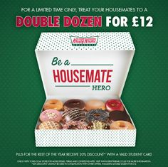 Students! Treat your housemates they'll love you for it!!
