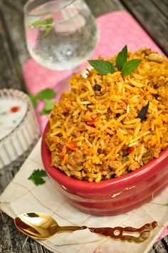 Easy 30-Minute Pressure Cooker Keema Biryani / Indian style Rice Pilaf with Ground Meat (You can use ground beef, turkey, chicken or mutton)