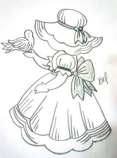 Embroidery Pattern Image Only  Signed by Bel. No Link. jwt