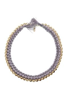 Grey Woven Necklace