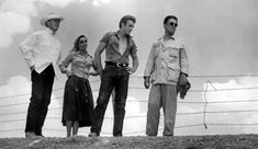 vintage everyday: Candid Photos of Liz Taylor and James Dean on Giant film - filmed in Big Bend desert region, Marfa, Texas