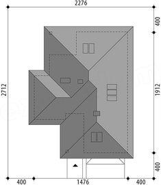 Rzut projektu Miriam V Bungalow House Plans, House Floor Plans, Beautiful House Plans, Beautiful Homes, Roof Design, House Design, Spanish Style Homes, Closet Designs, Facade House