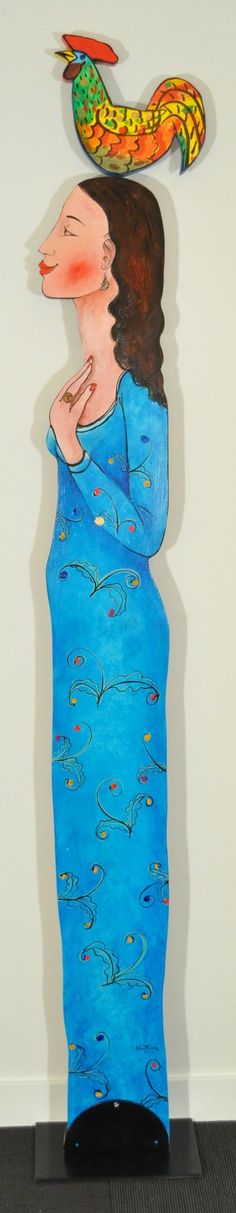 Growing up in a traditional Latin American village has been a determining influence on Vancouver, BC artist José Ventura's diverse bodies of work. Wood Sculpture, Sculptures, American Village, Blue Wood, 3 D, Traditional, Woman, Artist, Artwork