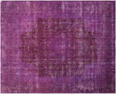 Vintage Persian Overdyed Purple and Pink Carpet 10x12 by RugzyRugs
