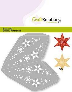 CraftEmotions die Christmas star ( 115633/0204)